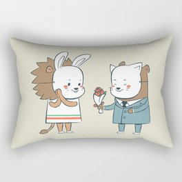 EDDIE TEDDY - First Date Rectangular Pillow