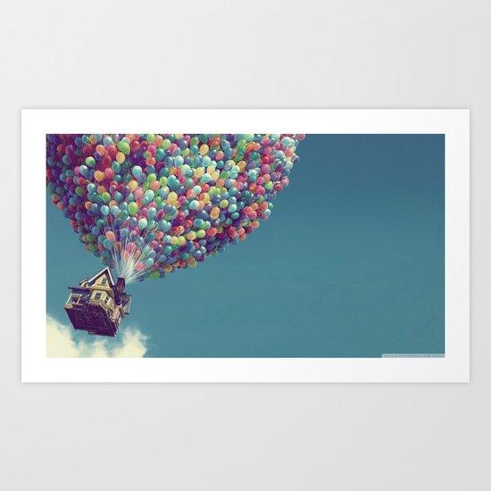 Up, up and away Art Print