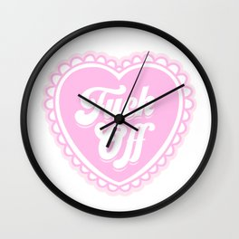 F*ck Off Pink Heart Wall Clock