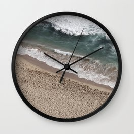 Aerial Beach Photography Wall Clock