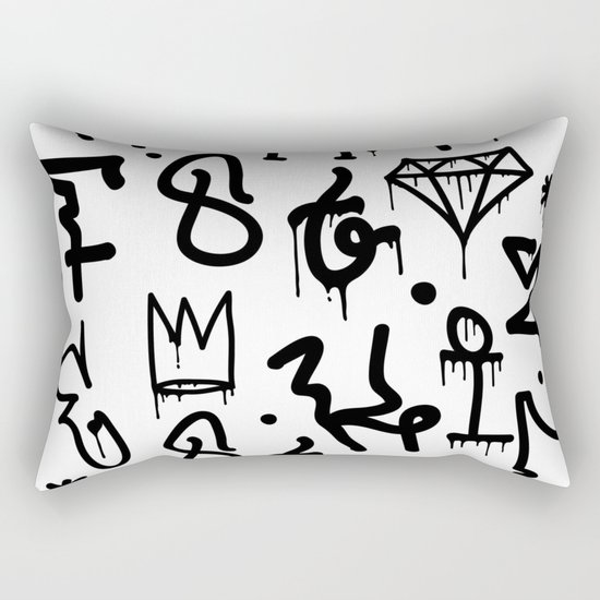 Diamonds & Crowns Rectangular Pillow