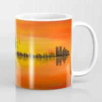 guitar Mugs featuring Guitar by OLHADARCHUK