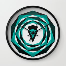 010 - Decahedron Graphic Wall Clock