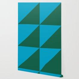 Light Blue & Army Green - 2 color oblique Wallpaper