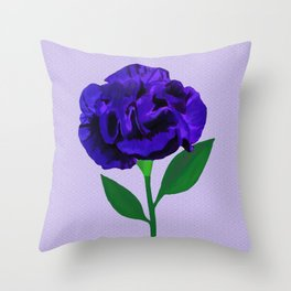 Bloomin' Violet on Lilac Throw Pillow