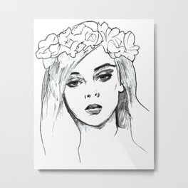 Flower Girl #3 Metal Print