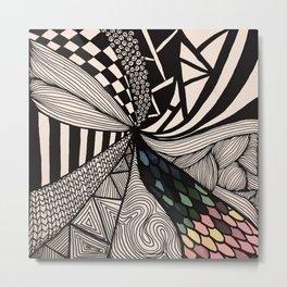 Zentangle #9 Metal Print