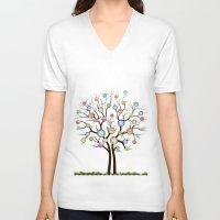 tree of life V-neck T-shirts featuring tree by mark ashkenazi