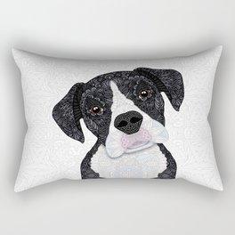 Black & White Boxer Rectangular Pillow