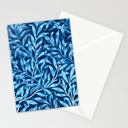 William Morris Willow Bough, Cobalt and Navy Blue Stationery Cards