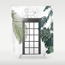 The Good, the Bad and the Indifferent Shower Curtain