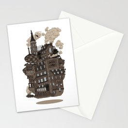 Flying city. Stationery Cards
