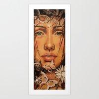 Butterfly Kiss Art Print