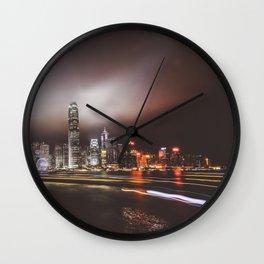 Night city 5 Wall Clock