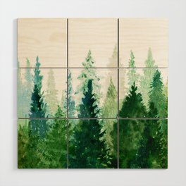 Pine Trees 2 Wood Wall Art