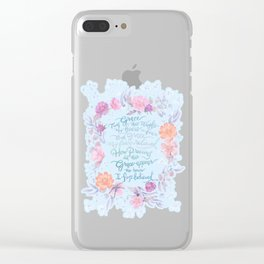 Amazing Grace - Hymn Clear iPhone Case
