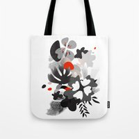 scandinavian Tote Bags featuring scandinavian nature by Lucja