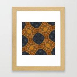 4 Squares Framed Art Print