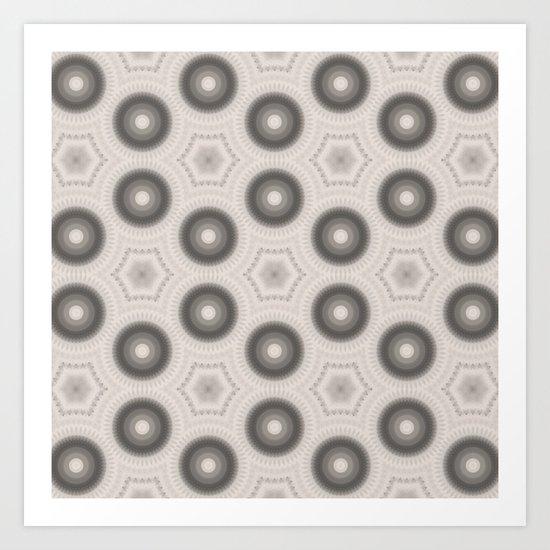 Fractal Cogs n Wheels in CMR01 Art Print