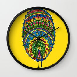 Dreaming of a Peacock  Wall Clock