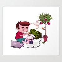 Digital Orchard Art Print