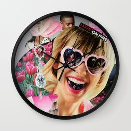 Love on Fire Wall Clock