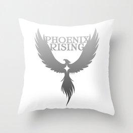 PHOENIX RISING grey with star center Throw Pillow