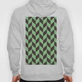 Charcoal And Green Chevron Pattern Hoody
