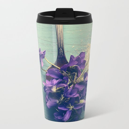 Sweet Violets Metal Travel Mug
