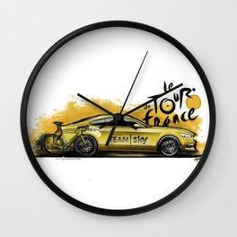 Ford Mustang GT (Team SKY - TDF 2016) Wall Clock