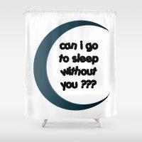 sleep Shower Curtains featuring Sleep by Cs025