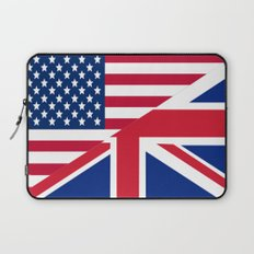 American and Union Jack Flag Laptop Sleeve