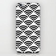 WiFi Pattern (black on white) iPhone & iPod Skin
