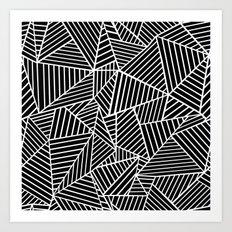 Ab Lines Black on White Art Print
