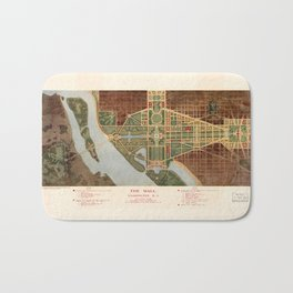 The Mall, Washington D.C. Map (1915) Bath Mat