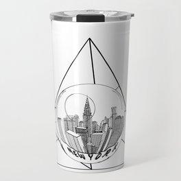 GRAPHIC Geometric. Shape Gray New York in a Bottle Travel Mug