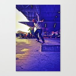 Colorful Skater Canvas Print