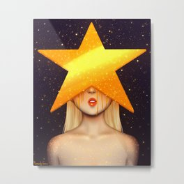 Gold Star Metal Print