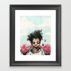The Most Beautiful Flower Framed Art Print
