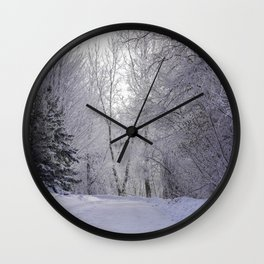 Winter's Dream Wall Clock
