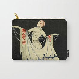 """""""The Jewelled Gown"""" Art Deco by J Carlos Carry-All Pouch"""