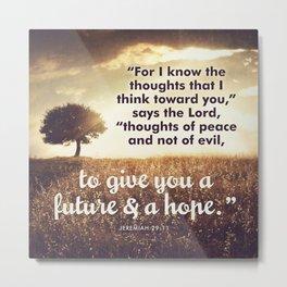 Jeremiah 29:11 Metal Print