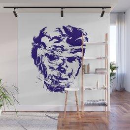 face 10, blue Wall Mural