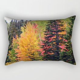 Deep in the Forest (Fall Colors) Rectangular Pillow