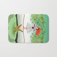 Halloween the girl with the crocodile iPhone 4 4s 5 5s 5c, ipod, ipad, pillow case and tshirt Bath Mat