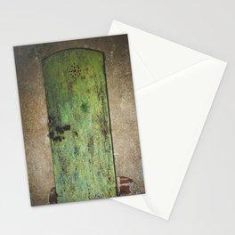 Rusty Green Door Stationery Cards