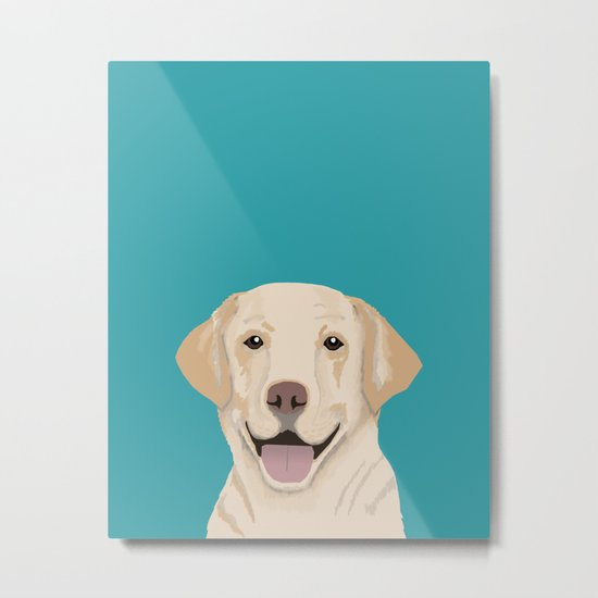 Golden Labrador Retriever modern minimal pet friendly dog person gift for labrador owner must have Metal Print