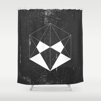 wwe Shower Curtains featuring Hexagon by eARTh