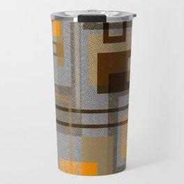 Mid Century Modern Blocks on Gray Travel Mug