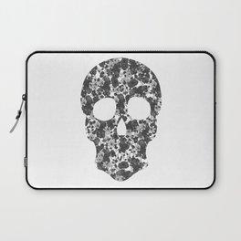Black and White, Flower Skull Laptop Sleeve